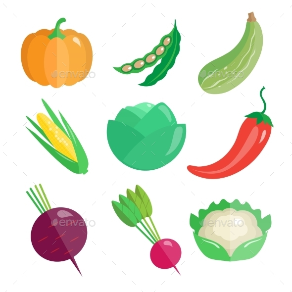 GraphicRiver Set Of Fresh Vegetables 11828215