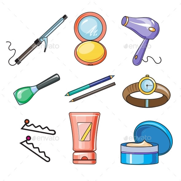 GraphicRiver Female And Women Accessories Icon 11828219