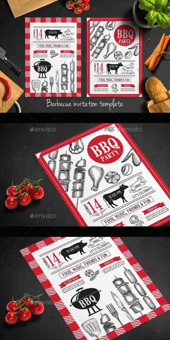 GraphicRiver Bbq Party Invitation 11780100