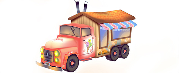 3DOcean Ice Cream Car 11828459