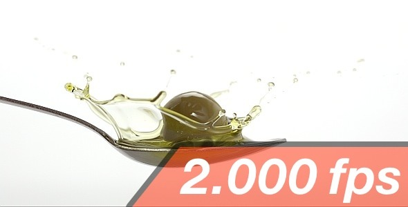 VideoHive Olive Is Falling Into A Spoon With Oil 4 11828463
