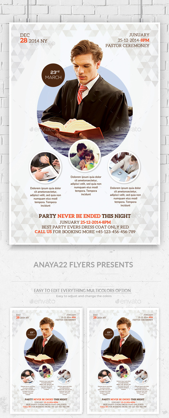 GraphicRiver Church Flyer Psd Template 11815479