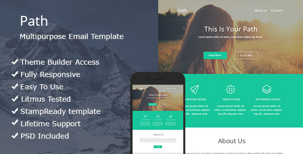 ThemeForest Path Multipurpose Email Template 11828771