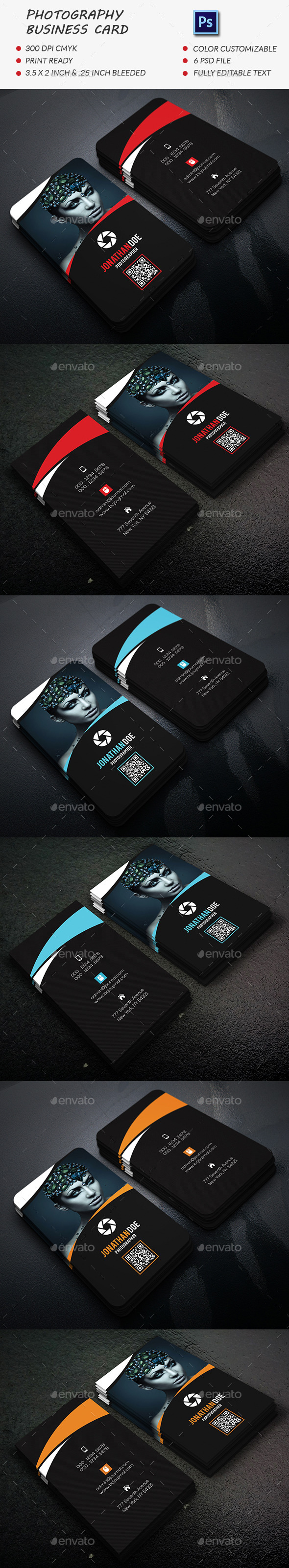 GraphicRiver Photography Business Card Template 11828888