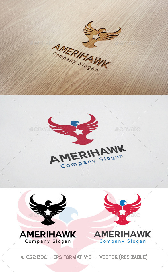 GraphicRiver American Hawk Logo 11828998