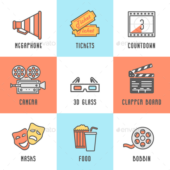 GraphicRiver 9 Cinema Icons 11829003