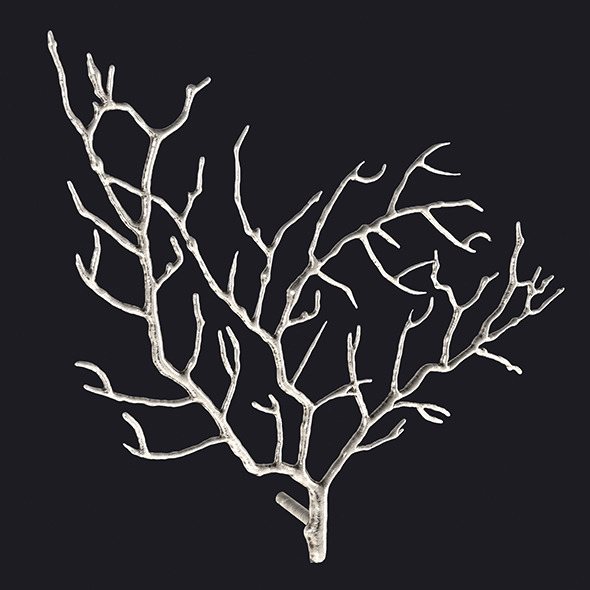 Metal Tree Branch Wall Sculpture - 3DOcean Item for Sale