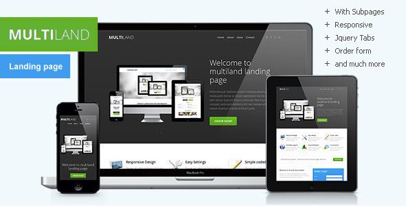 Multiland - Responsive multipurpose landing page