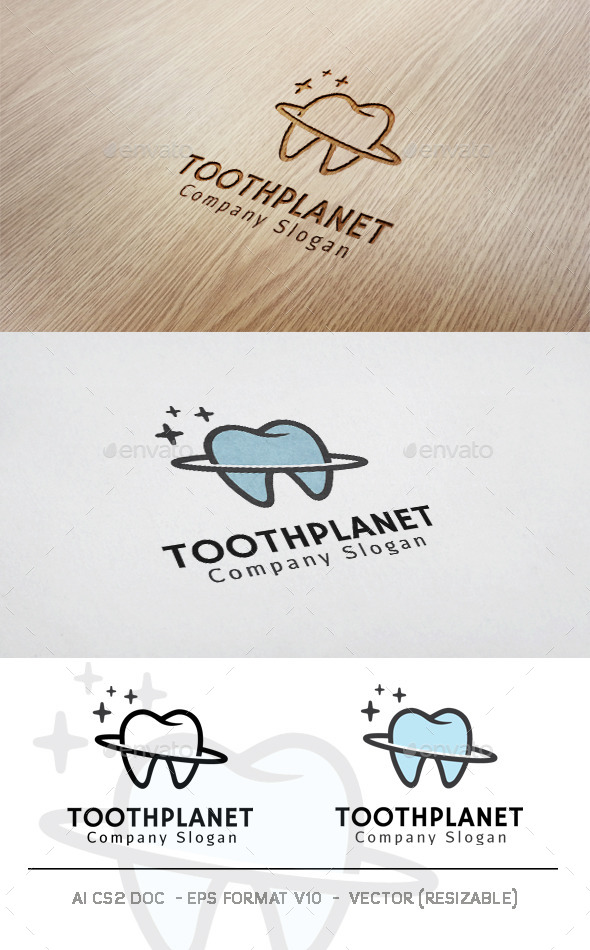 GraphicRiver Tooth Planet Logo 11829463