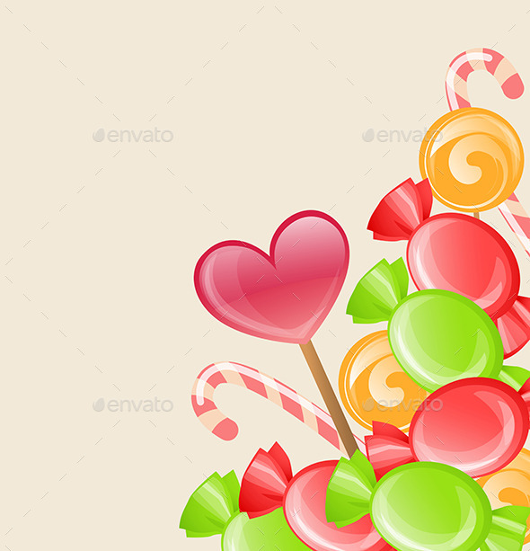 GraphicRiver Holiday Background with Candy 11829468