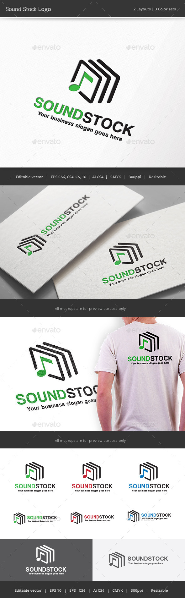 GraphicRiver Sound Stock Logo 11829849