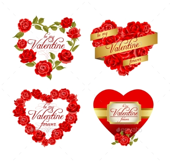 GraphicRiver Frames with Red Roses 11829864