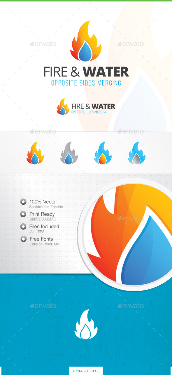 GraphicRiver Fire and Water Logo 11829905