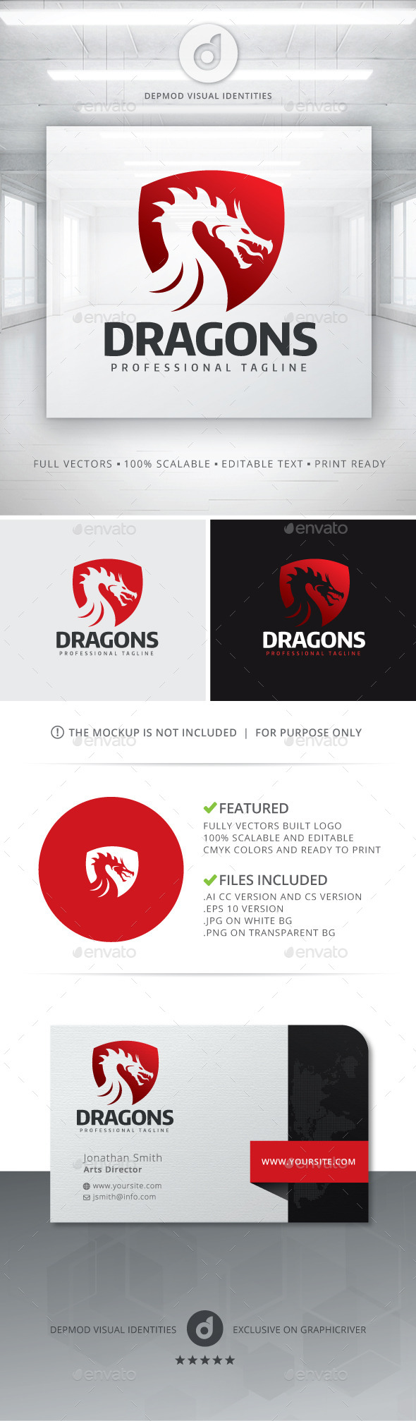 GraphicRiver Dragons Logo 11829982