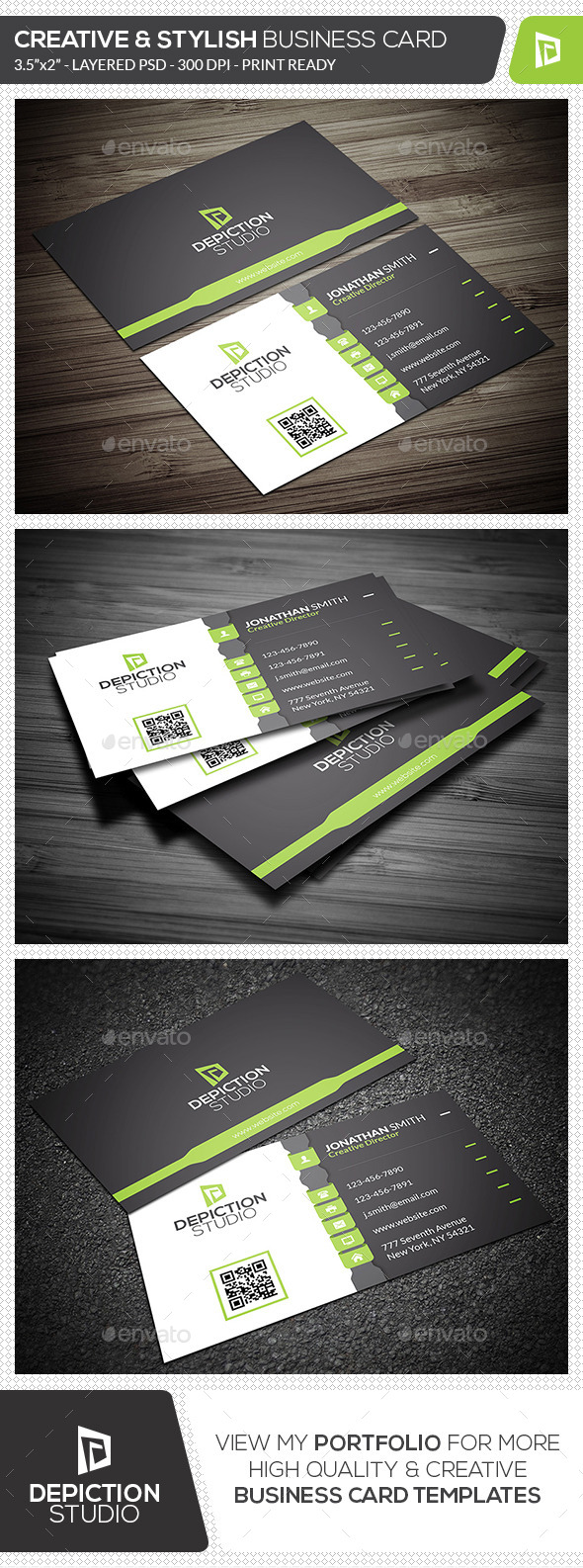 GraphicRiver Creative & Stylish Business Card 11830012