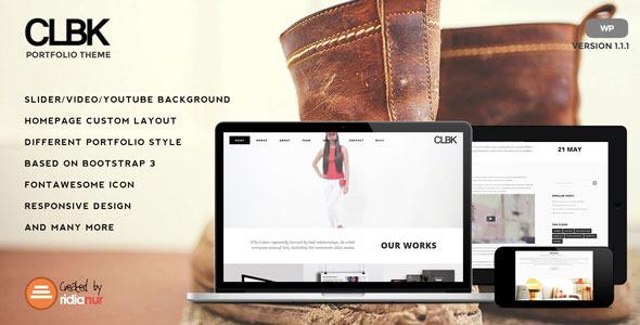 CLBK - Responsive One Page Portfolio Theme