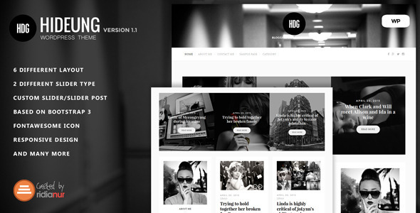 Hideung - Responsive WordPress Blog Theme