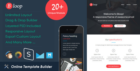 ThemeForest Bloop Responsive Email & StampReady Builder 11768414