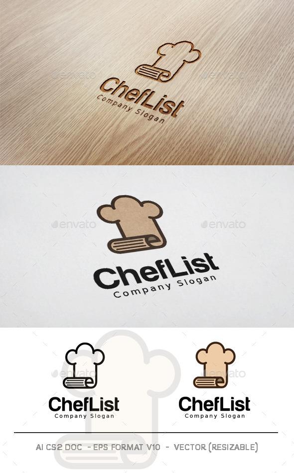 GraphicRiver Chef List Logo 11830293