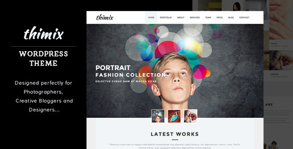 ThemeForest Thimix Creative Portfolio Photography WP Theme 11729564