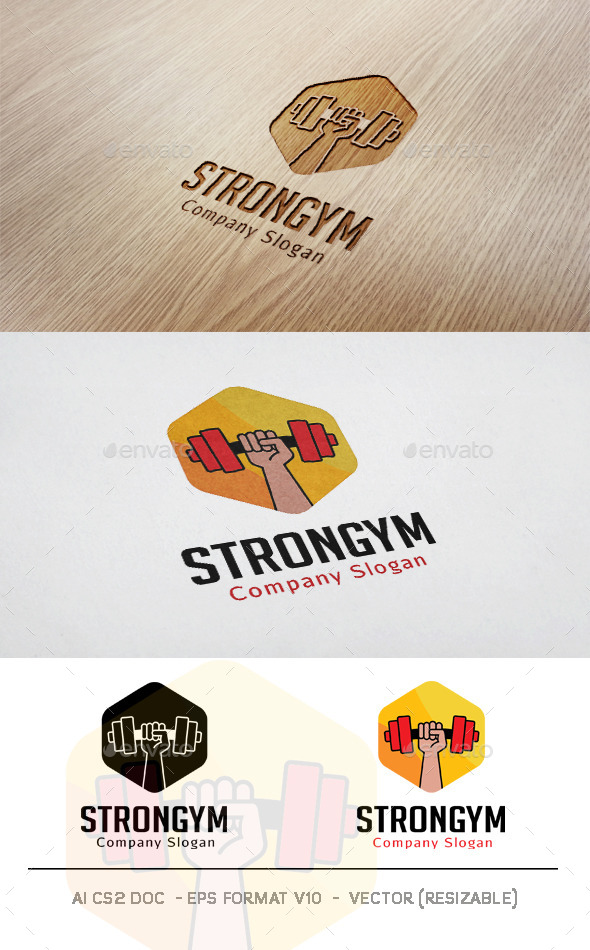 GraphicRiver Strong Gym Logo 11830415