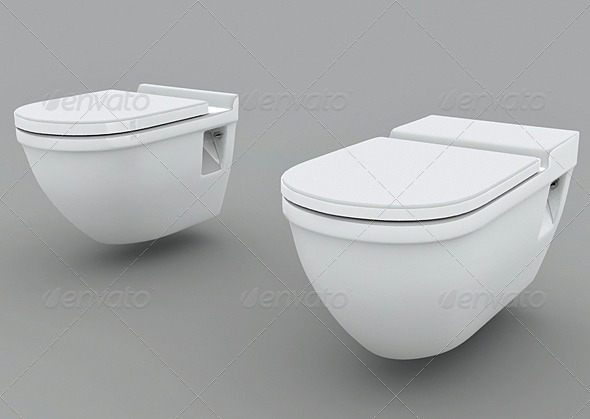 Wall Mounted Toilets - 2 DuravitStarck - 3DOcean Item for Sale