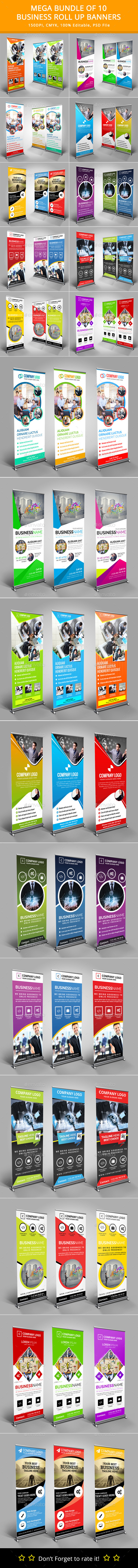 GraphicRiver Mega Bundle of 10 Roll Up Banners 11830754
