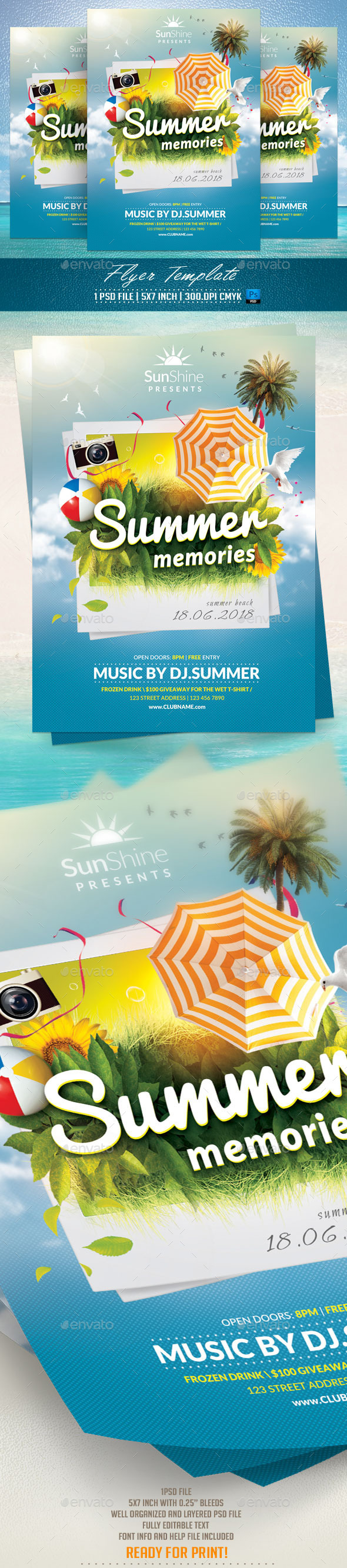 GraphicRiver Summer Memories Flyer Template 11830756