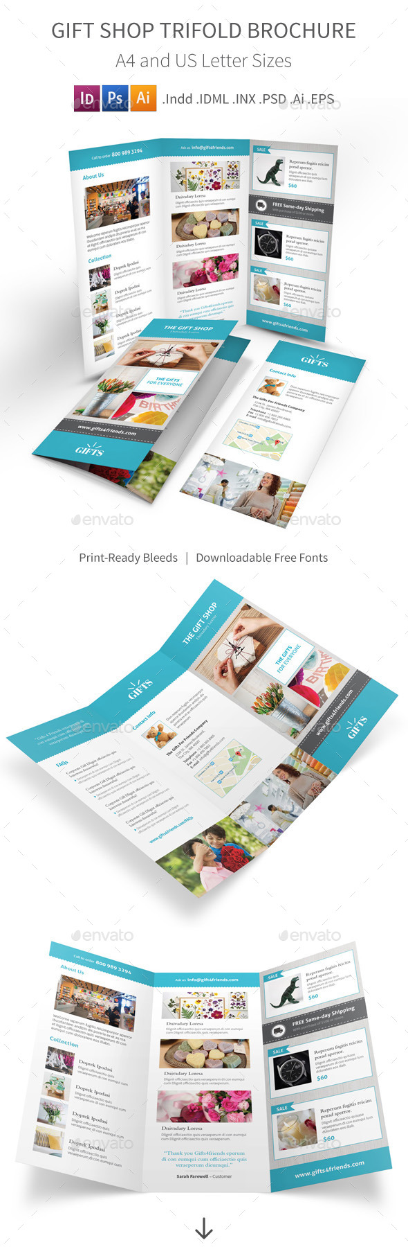 GraphicRiver Gift Shop Trifold Brochure 11830757