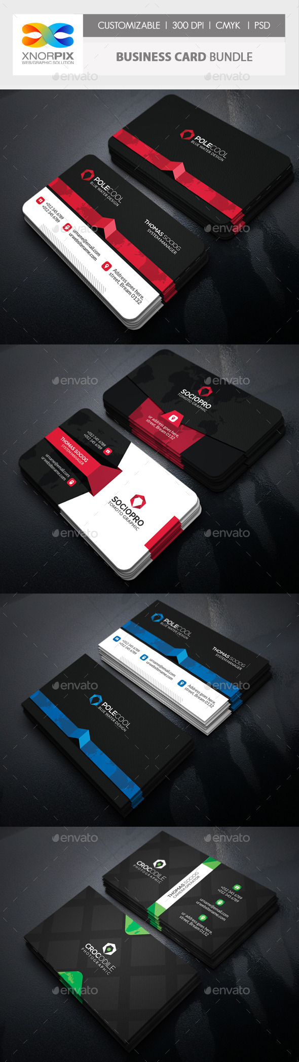 GraphicRiver Business Card Bundle 3 in 1-Vol 55 11830807