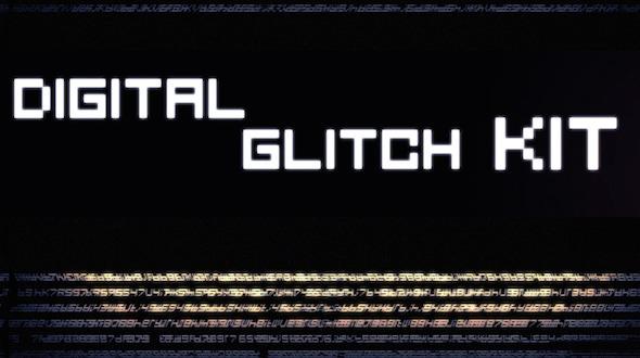 Glitch kit Trailer Slideshow Logo Opener