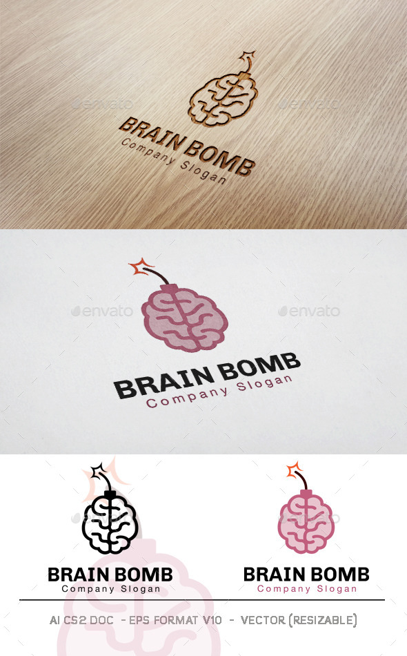 GraphicRiver Brain Bomb Logo 11831291