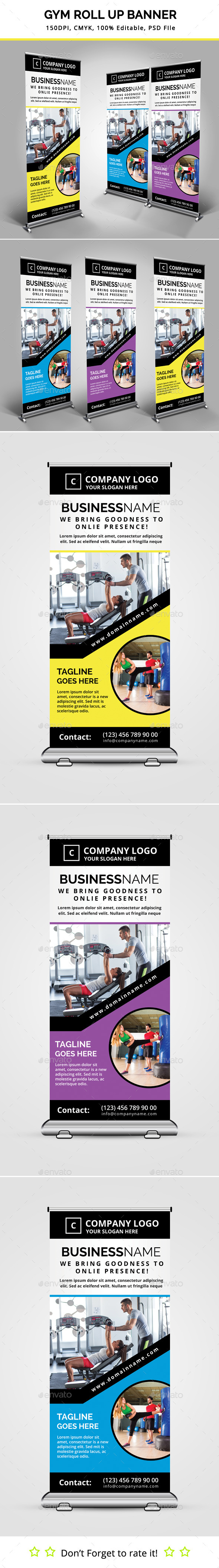 GraphicRiver Gym Roll Up Banner 11831688