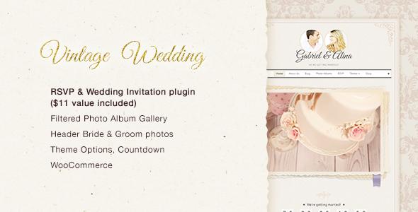 Vintage Wedding WordPress Theme - Wedding WordPress