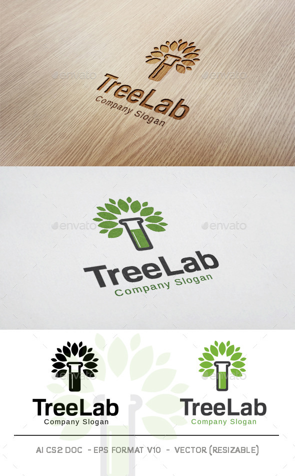 GraphicRiver Tree Lab Logo 11831903