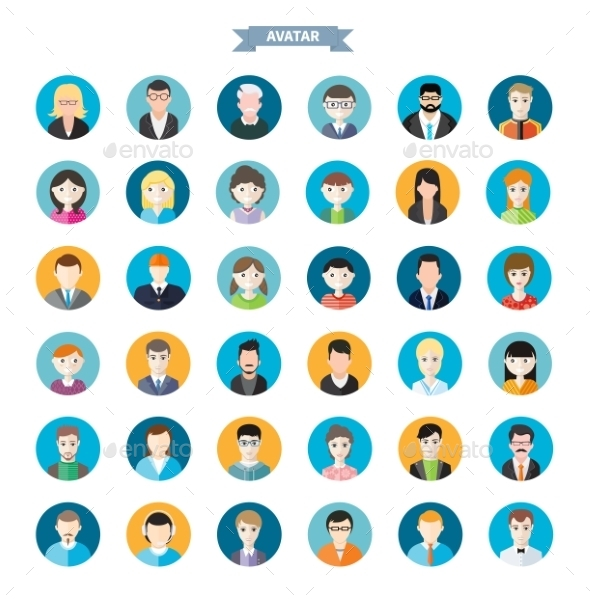 GraphicRiver Set Of Avatars 11831962