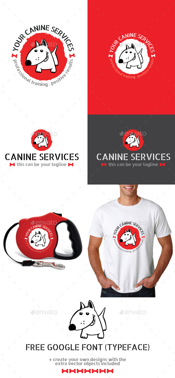 Dog or Pet Services Vector Logo