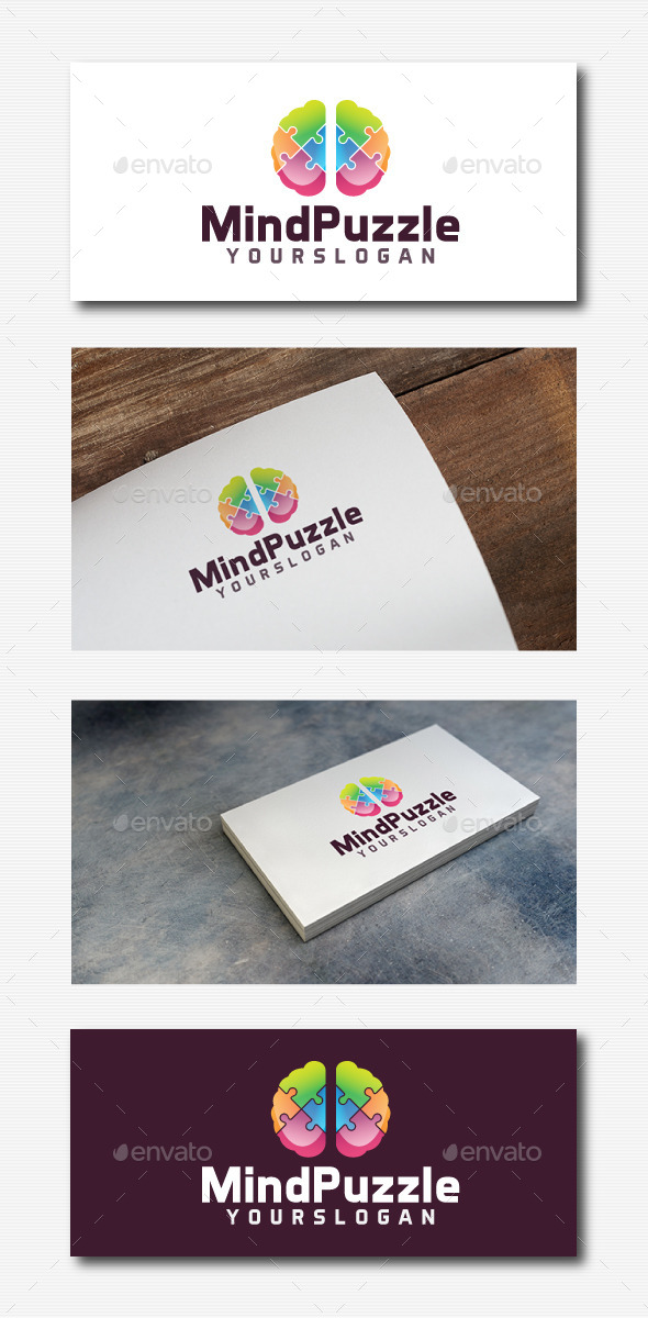 GraphicRiver Mind Puzzle Logo 11832805