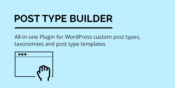 CodeCanyon Post Type Builder WordPress Custom Post Types 11833291