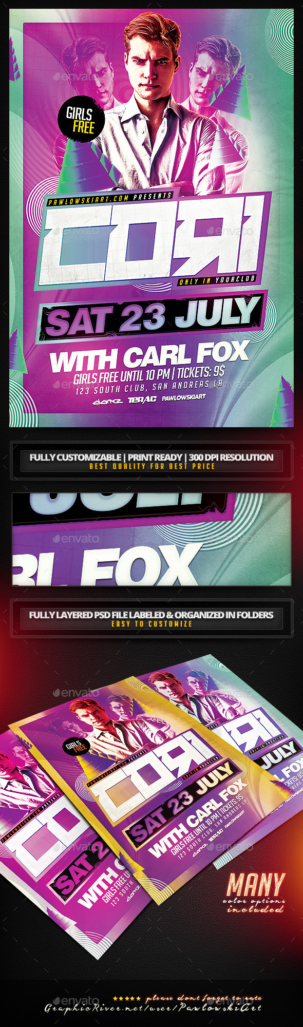 GraphicRiver Abstract DJ Club Flyer Template 11833315