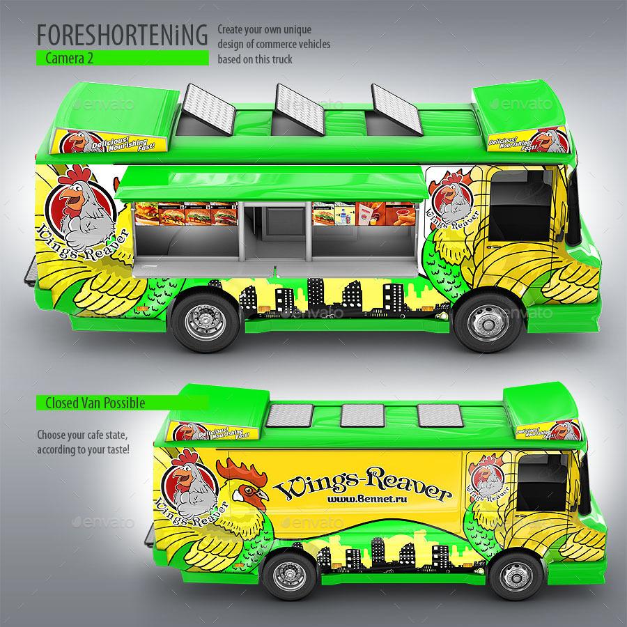 Food truck mock up unique 3d model mockup by bennet1890 for Food truck design software