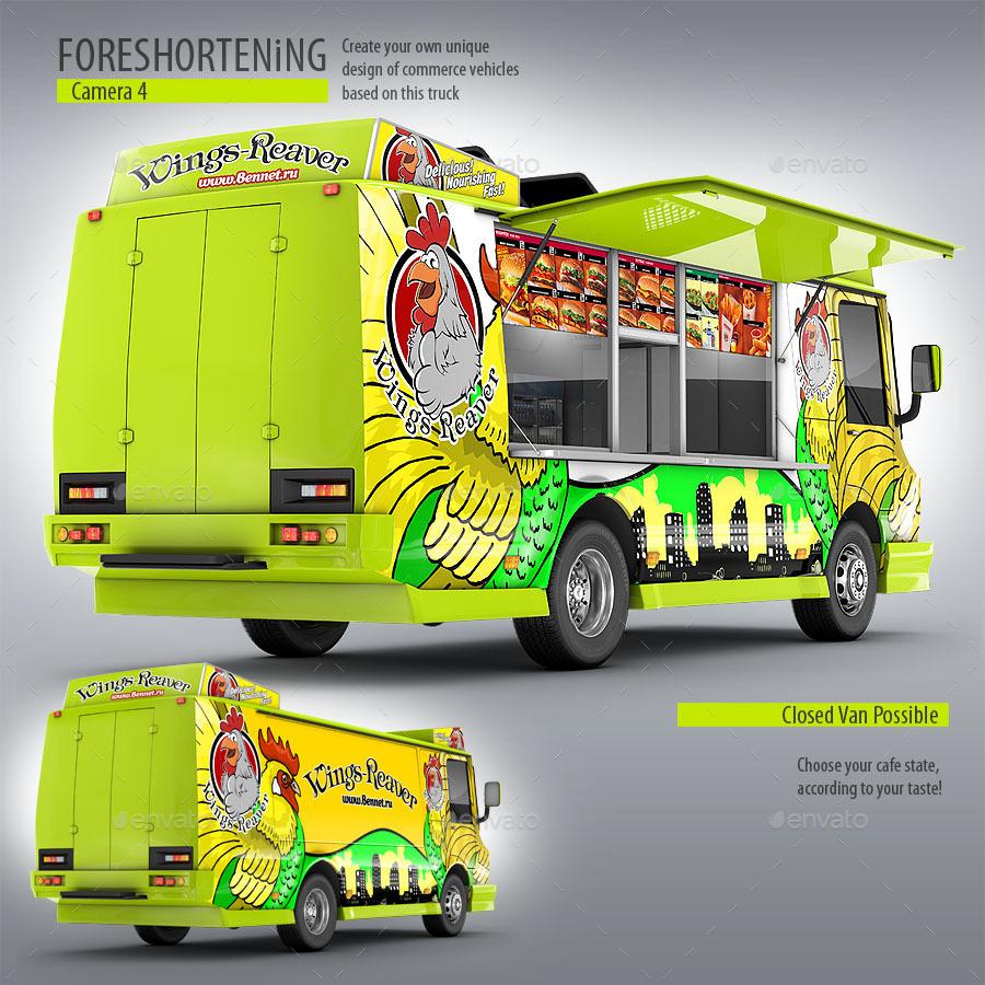 Food Truck Mock Up Unique 3d Model Mockup By Bennet1890