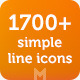 1700 Simple Line Icons - GraphicRiver Item for Sale