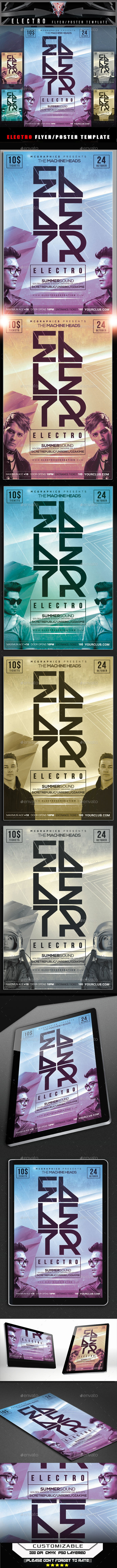 GraphicRiver Electro Fllyer Template 11833823
