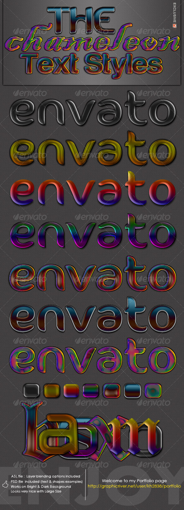 The Chameleon - Text Styles - Text Effects Styles