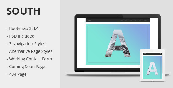 ThemeForest South Creative HTML5 Template 11833847