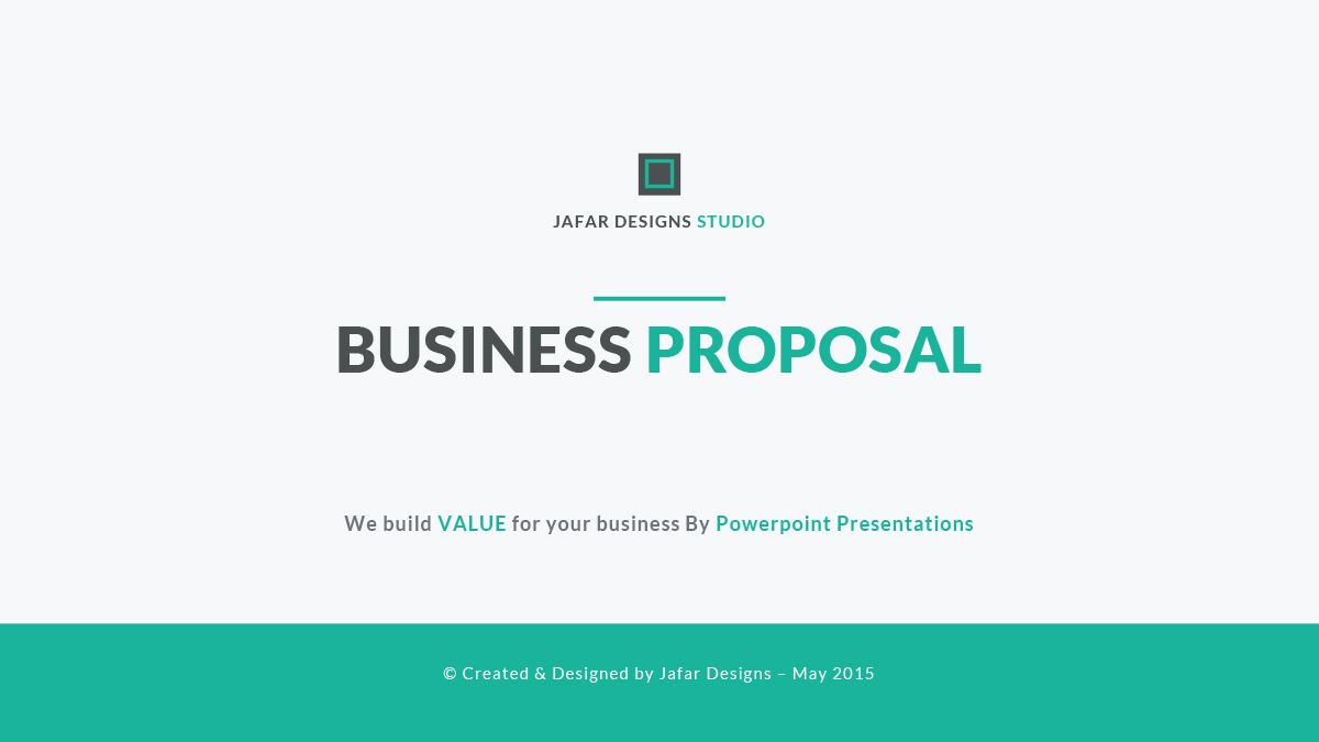 Business Proposal PowerPoint Template by JafarDesigns – Official Proposal Template