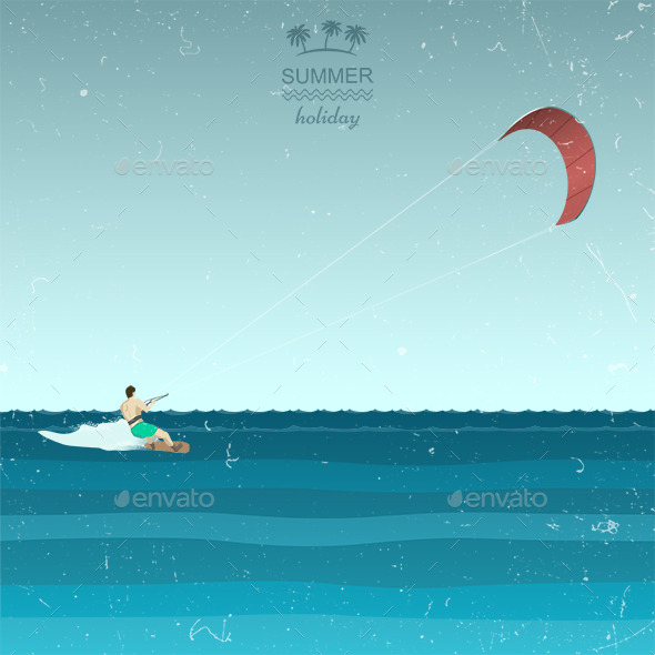 GraphicRiver Kite Surfing 11834038