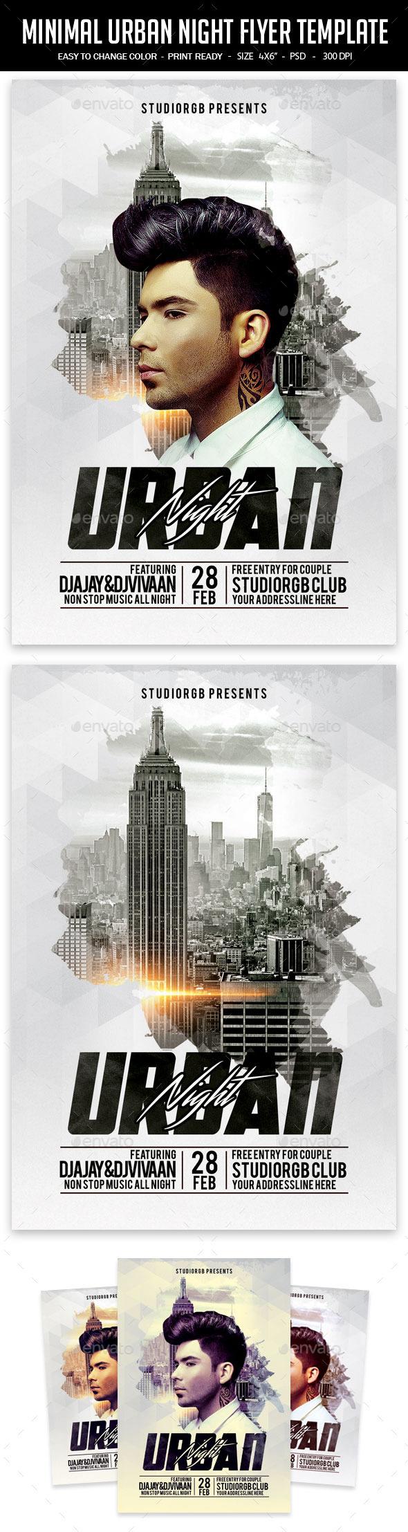 GraphicRiver Minimal Urban Night Flyer Template 11834165