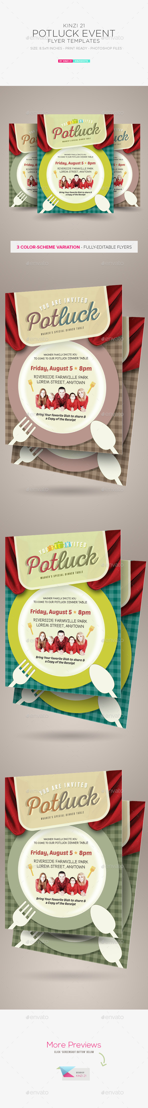 GraphicRiver Potluck Event Flyers 11834171
